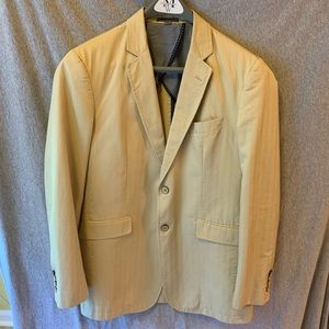 Johnston and Murphy cotton khaki blazer, medium